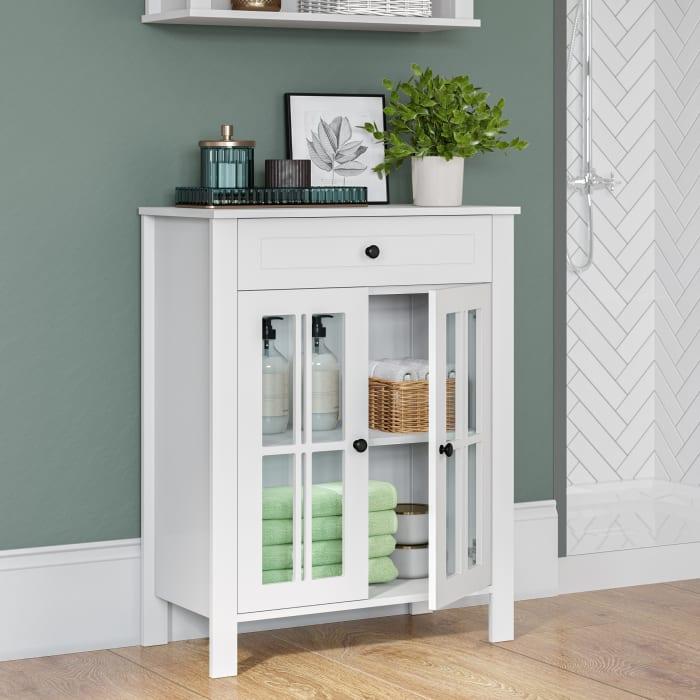 Danbury Two Door Floor Cabinet - White