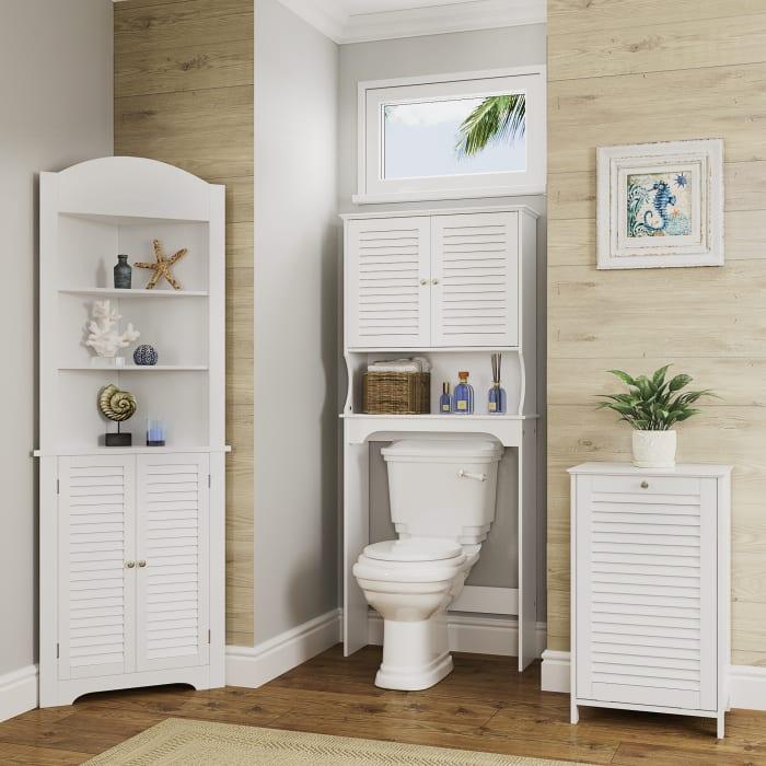Ellsworth Tilt-Out White Laundry Hamper