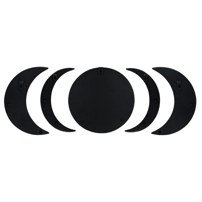 Black Moon Phase Mirror Set