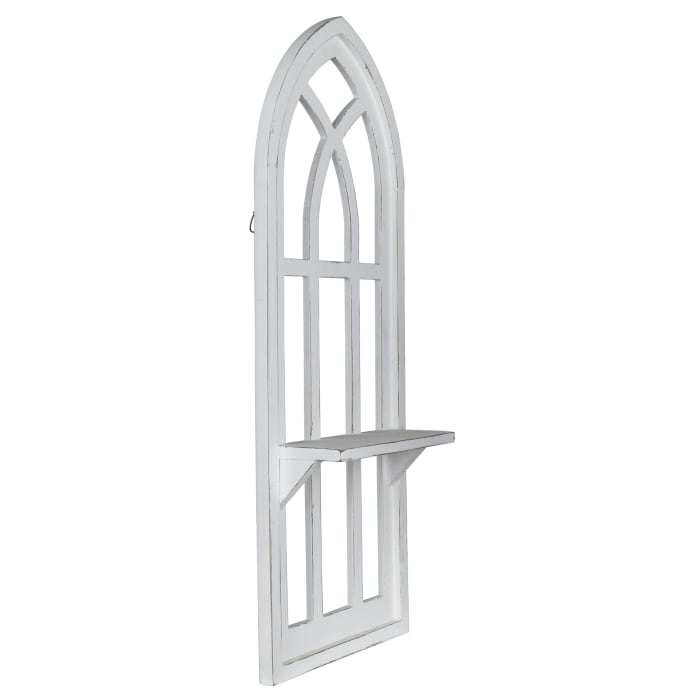 White Window Arch Wall Shelf