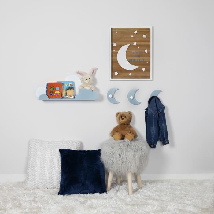 Blue and White Cloud Wall Shelf