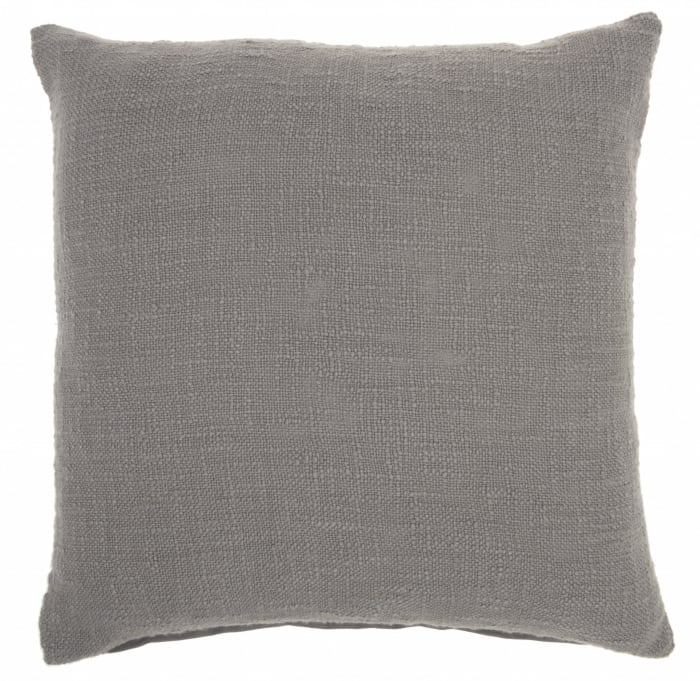 Solid Woven Throw Pillow
