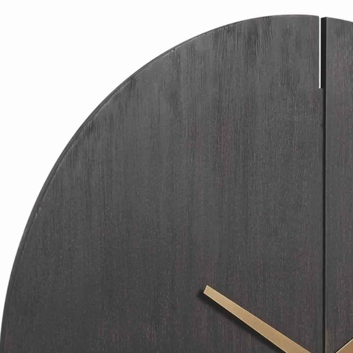 Round Brown and Gold Wall Clock