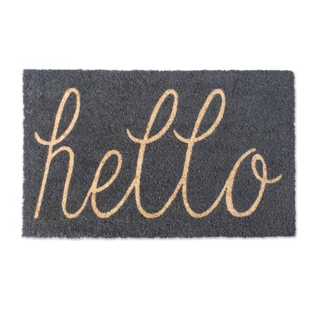 Gray Hello Doormat