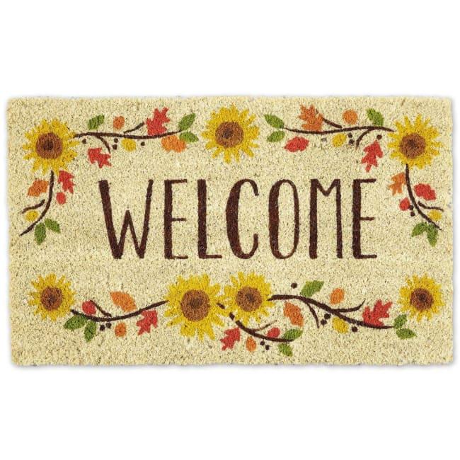 Welcome Sunflowers Doormat