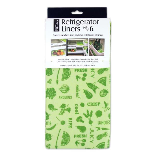 Green Veggies Fridge Liner (Set of 6)