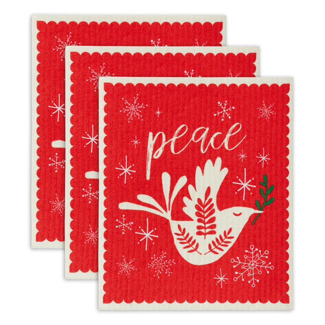Peace Swedish Dishcloth Set/3