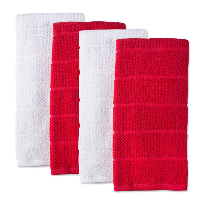 Assorted Barn Red Basic Chef Terry Dishtowel (Set of 4)