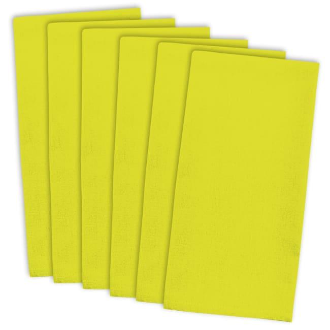 Neon Yellow Flat Woven Dishtowel (Set of 6)