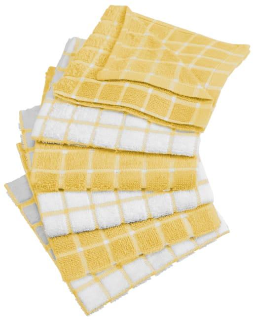 Yellow Combo Windowpane Dishcloth (Set of 6)