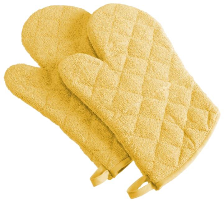 Yellow Terry Oven Mitt (Set of 2)