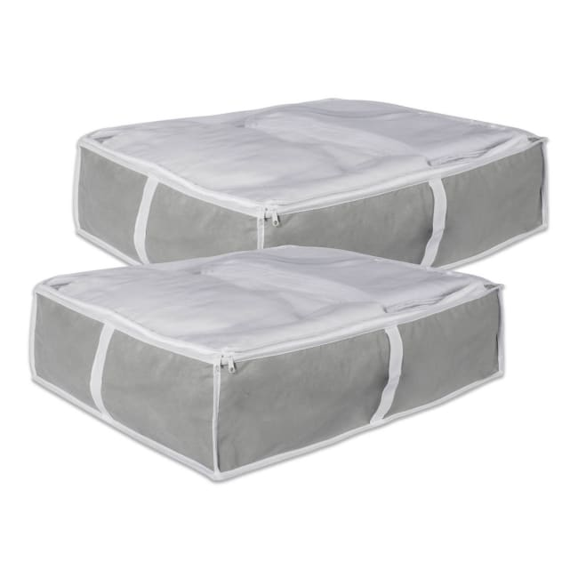 Medium Gray Under-The-Bed Soft Storage (Set of 2)