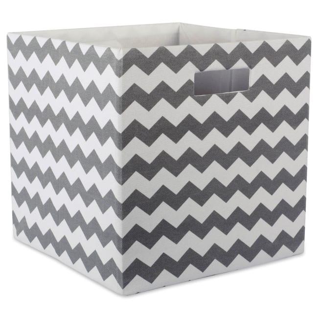 Polyester Cube Chevron Gray Square 13x13x13