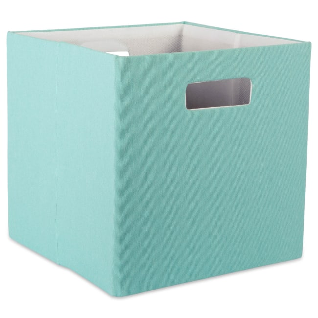 Polyester Cube Solid Aqua Square 13x13x13