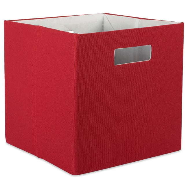 Polyester Cube Solid Rust Square 13x13x13