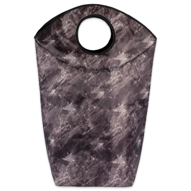 Polyester Laundry Basket/Bag Marble Black