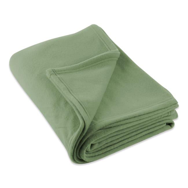 J&M Oil Green Fleece Blanket King 108x90