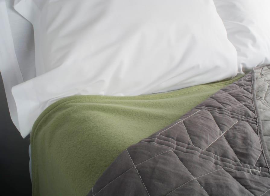J&M Oil Green Fleece Blanket Twin/Twin XL 60x96