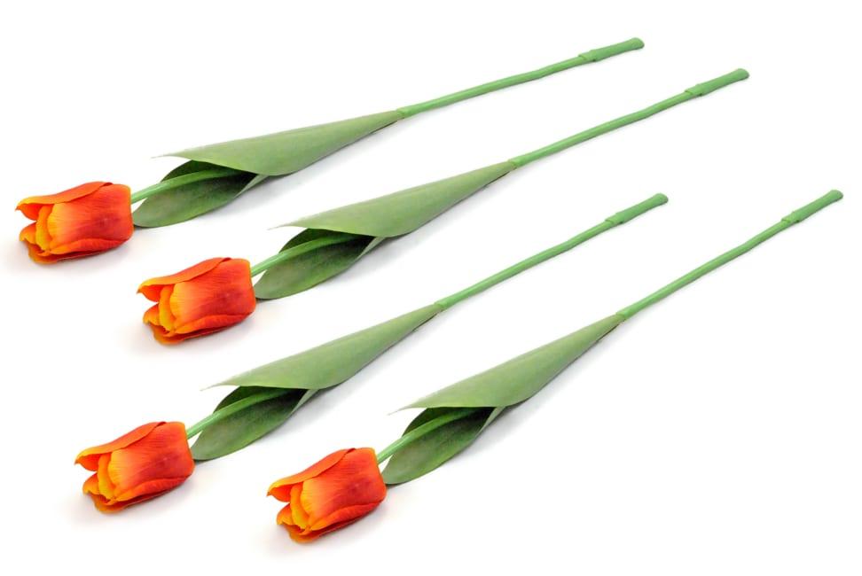 Flower Tulip Orange (Set of 4)