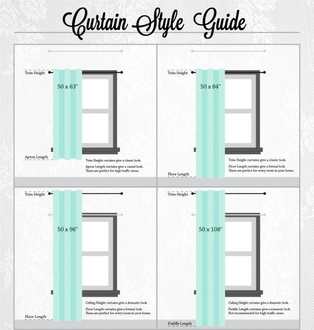 Gray Lace Circle Window Curtain 52x84 Set/2