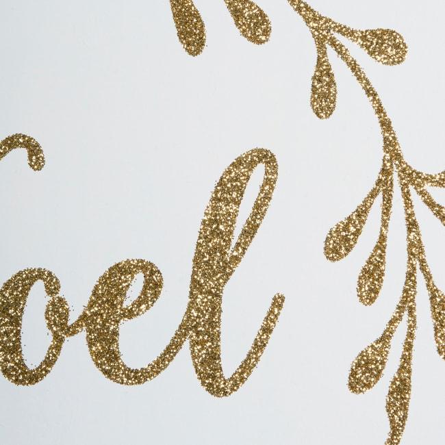 Noel & Merry Christmas Hanging Signs (Set of 2)
