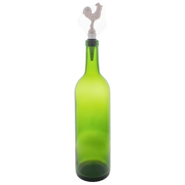 Silver Rooster Bottle Stopper (Set of 2)