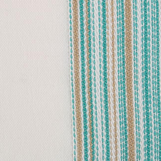 Teal Fringed Stripe Napkins, 20x20