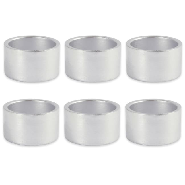 Silver Round Painted Acrylic Napkin Ring (Set of 6)