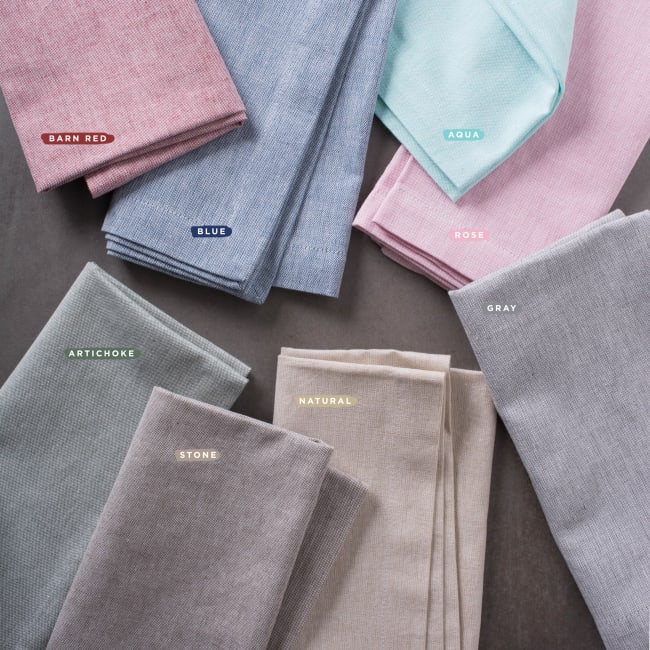 Stone Brown Solid Chambray Napkin (Set of 6)