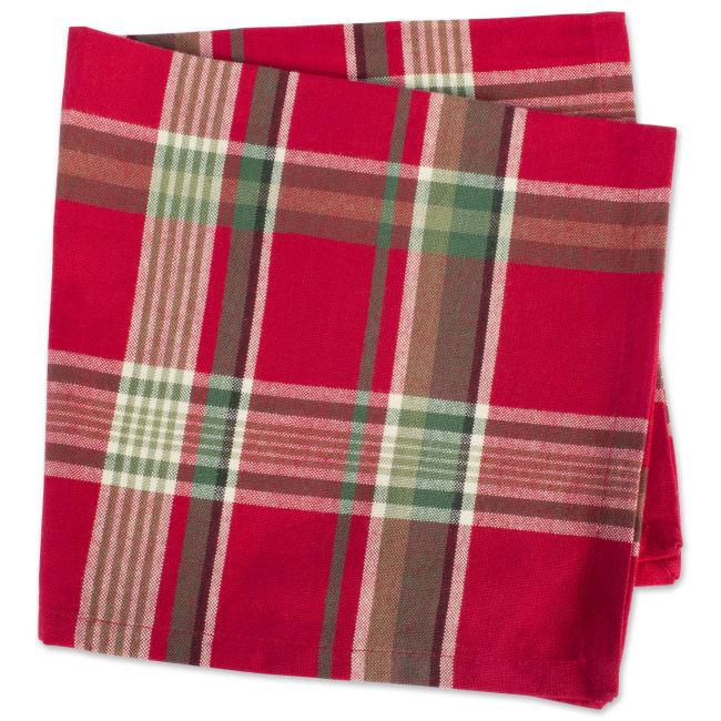 Tango Red Plaid Napkin (Set of 6)