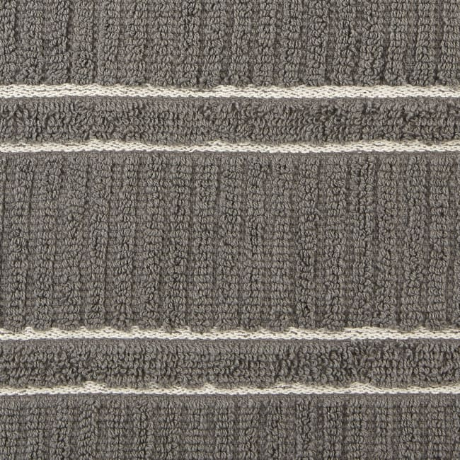 J&M Gray Ribbed Terry  Dishtowel Dishcloth (Set of 8)