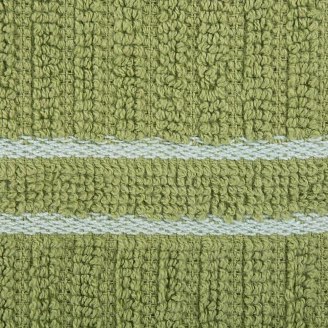 J&M Green Ribbed Terry  Dishtowel Dishcloth (Set of 8)