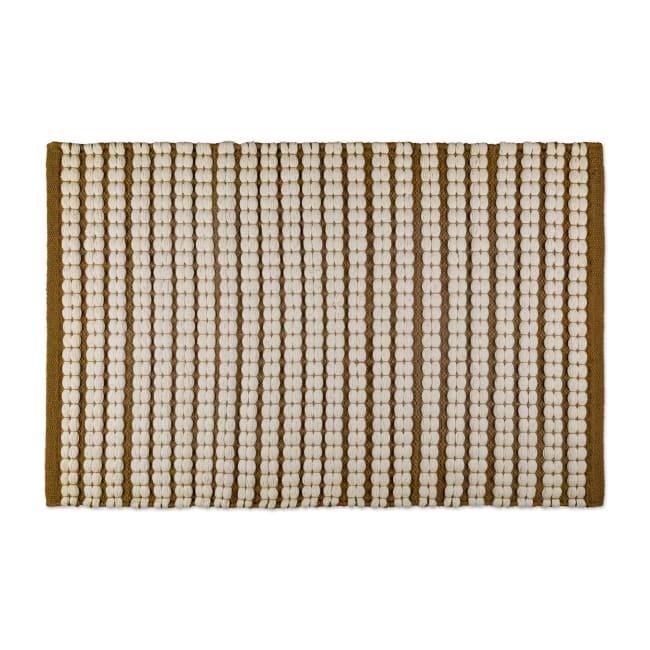 Stone Braided Stripe Rug 50x80cm