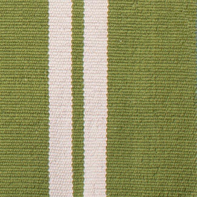 J&M Double Cabana Stripe Rug 30x48 Green