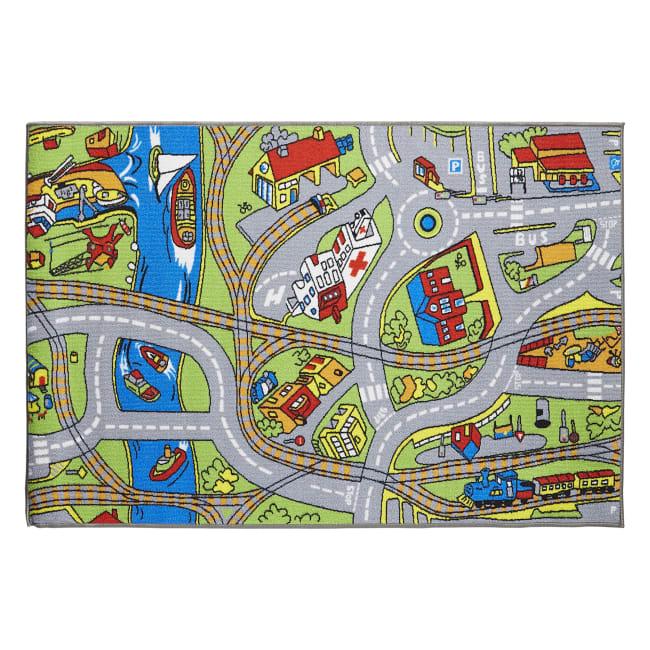 J&M Kids Play Rug Street Map 40x60