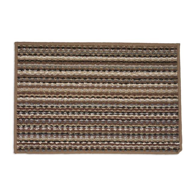 J&M Multi Stripe Printed Nylon Rug 20x30