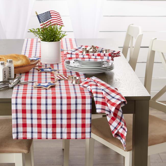 American Plaid Table Runner 14x72
