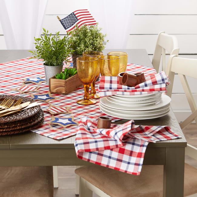 American Plaid Table Topper 40x40