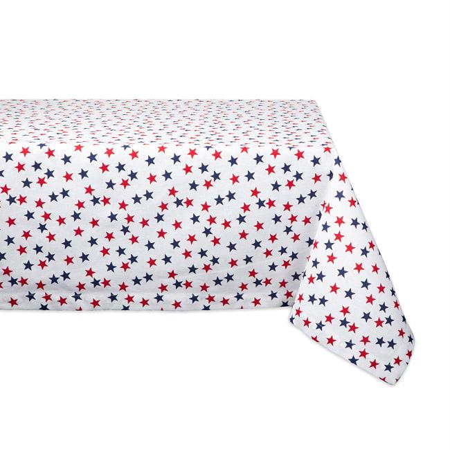 Americana Stars Print Tablecloth 60x104