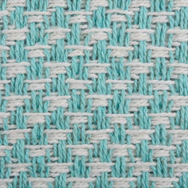 Aqua Woven Table Runner 15x72