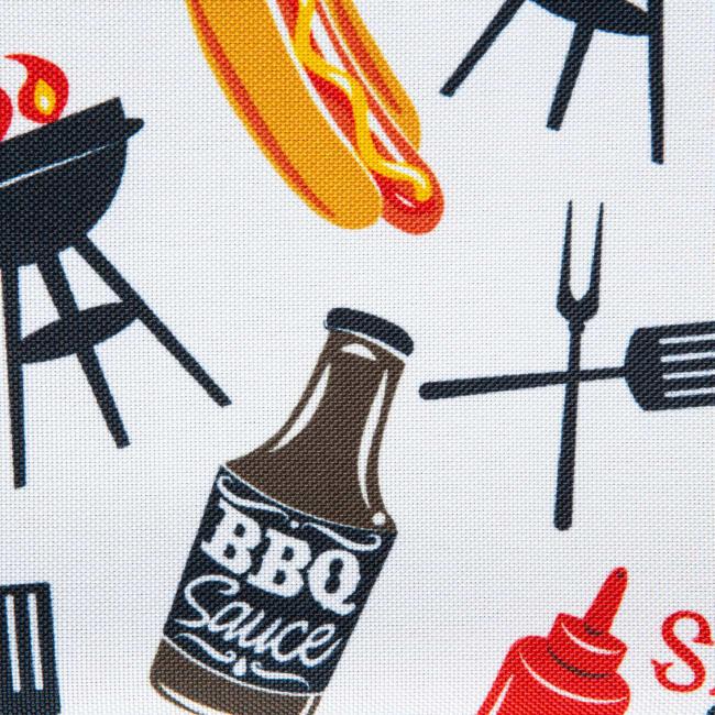 Bbq Fun Print Outdoor Tablecloth 60 Round