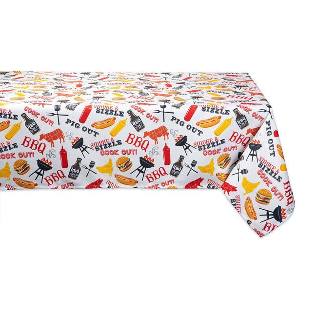 BBQ Fun Print Outdoor Tablecloth 60x120