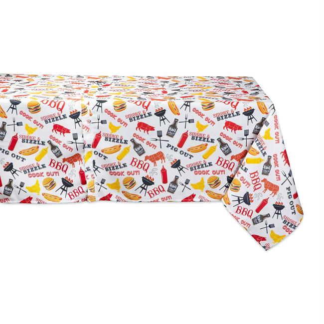 BBQ Fun Print Outdoor Tablecloth With Zipper 60x84