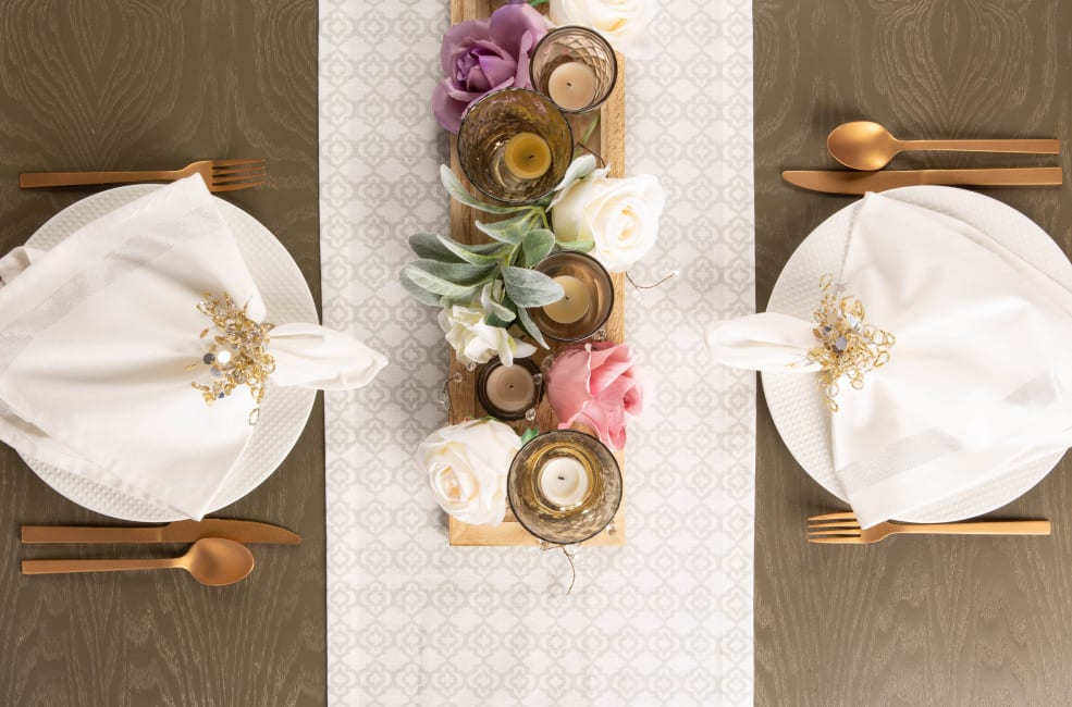 Eat, Drink, and Be Married Table Runner 14x72