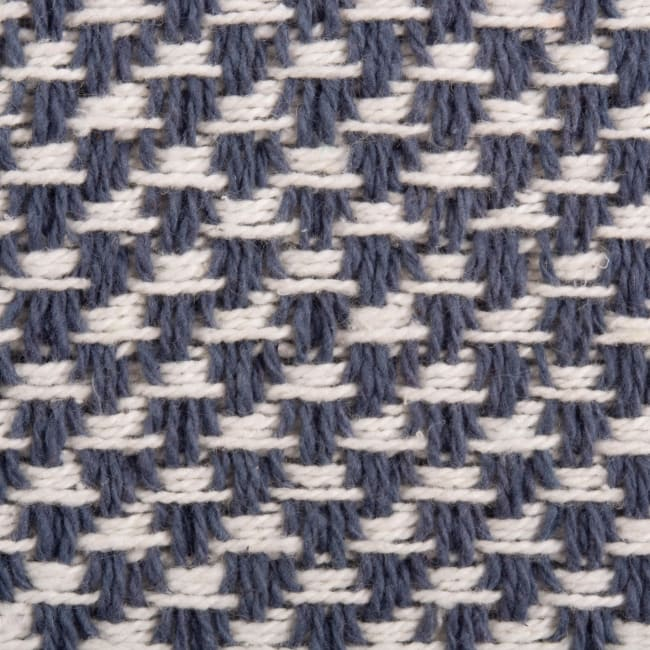 French Blue Woven Table Runner 15x72
