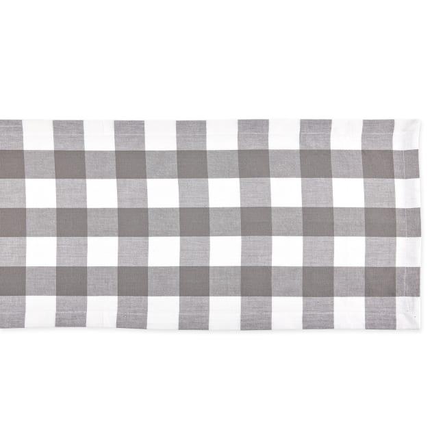Gray & White Buffalo Check Table Runner 14x108