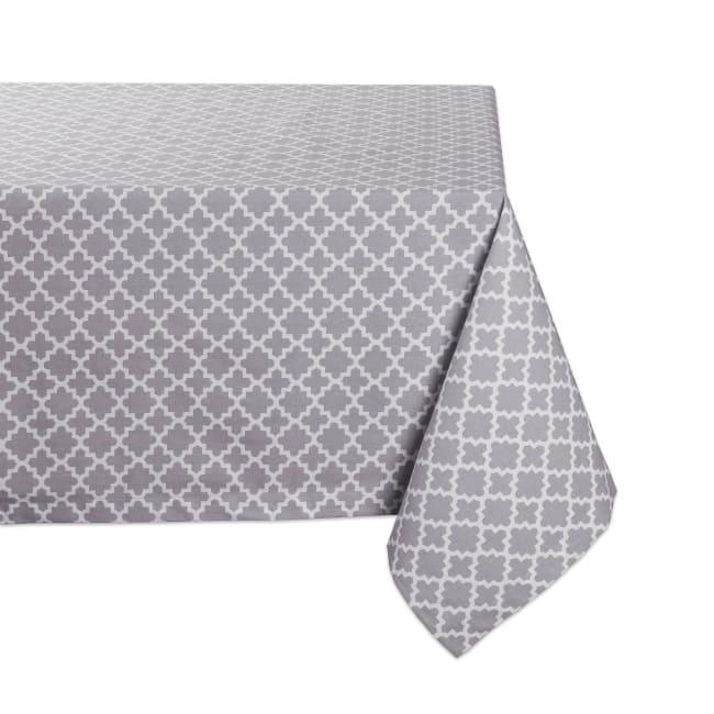 Gray Lattice Tablecloth 60x84