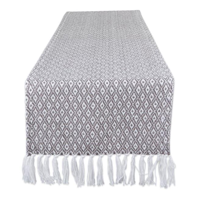 Gray Mini Diamond Table Runner 15x72