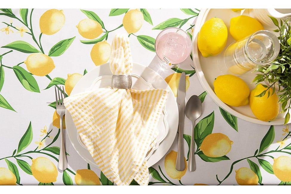 Lemon Bliss Print Outdoor Tablecloth 60x120