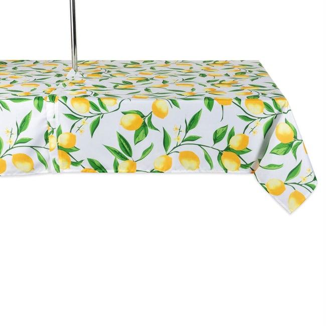 Lemon Bliss Print Outdoor Tablecloth With Zipper 60x120